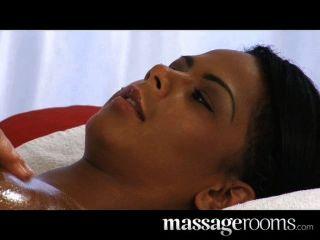 Sexy ebony sensual labia e clit massagem