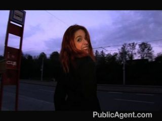 Publicagent naughty redhead getting fucked