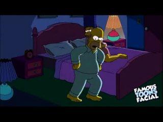 Simpsons cartoon sexo: homer fucking marge