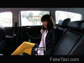 Faketaxi japonês turista com bichano apertado