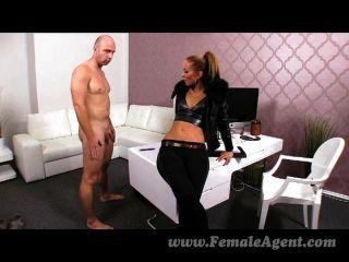 Femaleagent casting creampie para o agente sexy