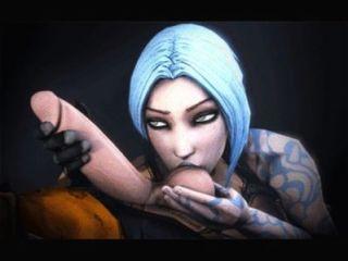 Videogame compilação animada bioshock, borderlands, raider tumba, efeito de massa