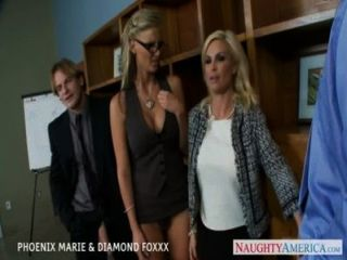 Blondes phoenix marie e diamante foxxx fuck in foursome