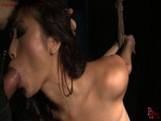Garota do pirralho francês recebe corda bondage