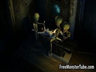 Quente 3d morena babe fica fodido por dois aliensattack3 alta 1