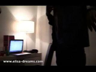 Nude e slut com 2 amantes pretos em um hotel