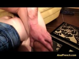 Garotas francesas são anal fucked in orgy