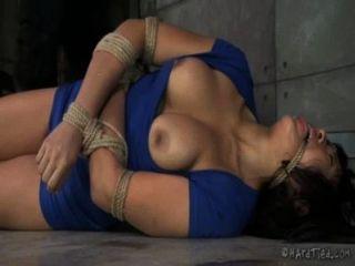 Grossa, Asiático, corda, bondage