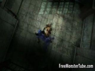 Foxy 3d cartoon loira ficando fodido por beastndmistress alta 2