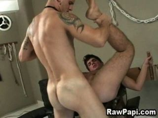Latino étnico gay bareback sex