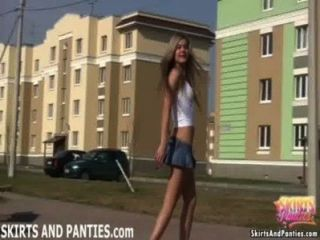 Florida, piscando, dela, calcinha, exterior, dela, apartamento
