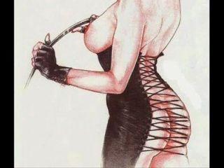 Feminismo fetiche roupas bdsm bondage desgaste arte strapon comics