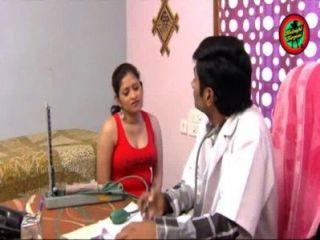 Indiano, doutor, quentes, romance, senhora, lar, boob ...