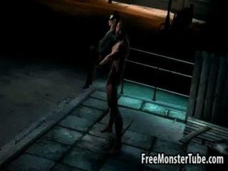 3d catwoman ficando fodido duro por wolverine