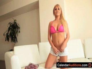 Blonde quente âmbar \u0026 rsquo; s calendário audição