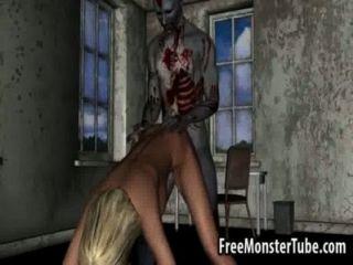 Hot 3d loira mel ficando fodido duro por um zombieombie alta 1