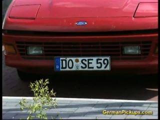 Pickup, peito, alemão, ruiva