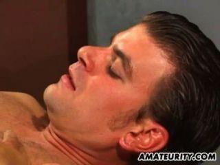 Namorada amadora ação anal com ejaculação facial