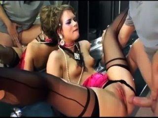 Glamour sexo na coxa alta meias e luvas