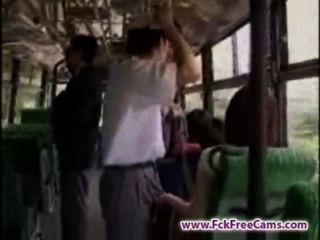 Masturbação no ônibus fckfreecams.com