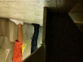 Bermuda abobora no banheiro
