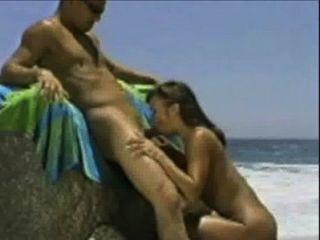 Maria follando na praia