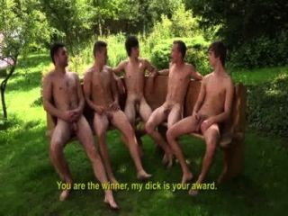Cinco guys fuck bareback at williamhiggins wank party