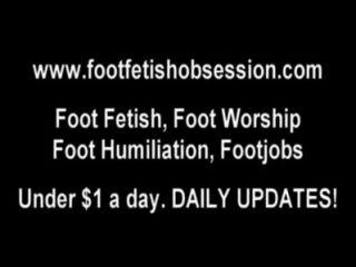 Mimar meus pés frescos recentemente pedicured