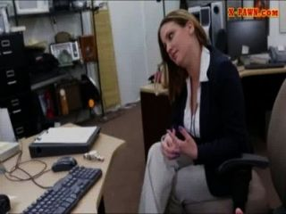Foxy, enorme, boobs, negócio, mulher, parafusado, cima, Dinheiro