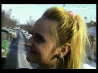 Busty girl loves jovem galo
