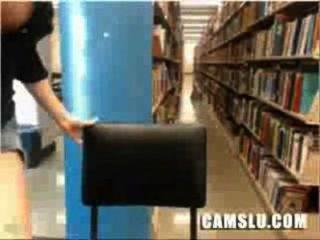 Minha super bonito e bonita asiática biblioteca menina cam fica pego