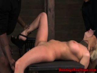Bondage fetish sub cereja rasgado pounded