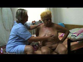 oldnanny gorda grande avó tem sexo com rapaz jovem