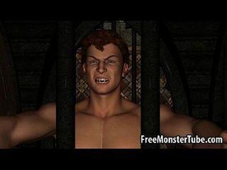 Hot Redhead 3d é fodido duro por um vampiro