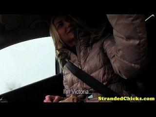 Hitchhiker amador cheats em seu bf com motorista