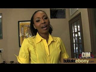 Ebony babe suga grupo de indivíduos brancos 2