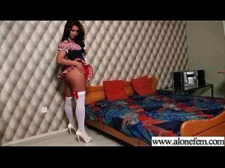 sozinho, garotas excitadas, gostam de brinquedos sexuais para clip de masturbação 01