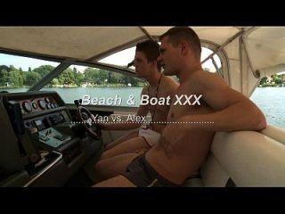 Luta de luta gay na praia de luta e barco xxx