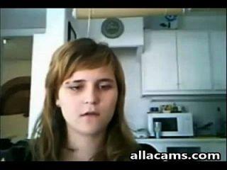 filha e sua mãe no flash da webcam