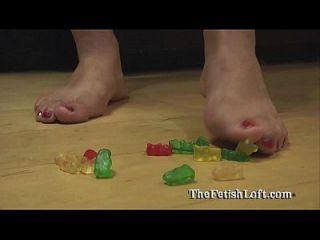 arizona gummy bear squishing crushing fetish