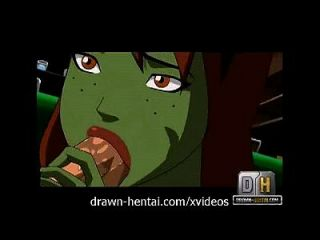 A jovem justiça hentai superboy foda o jumento marciano