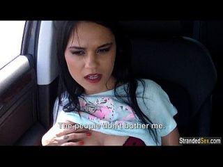 adolescente euro babe zelda fica com um cum quente no culo dentro de um carro