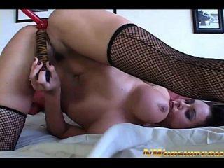 sexo inter-racial anal para garotas grandes e big black cock