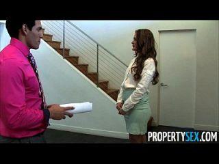 propertysex abby cross é um agente imobiliário sujo fodido cliente
