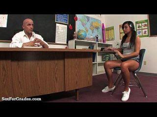 Slut adolescente ensinou uma aula hardcore depois da aula!