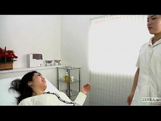 Clínica de massagem erótica de lésbica japonesa subtitulada
