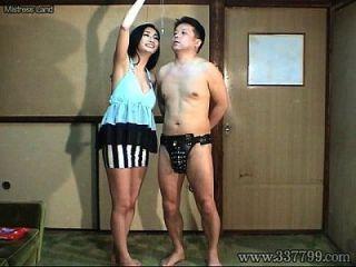 mldo 091 marido masoquista é a ejaculação administrada pela castidade belto à esposa.