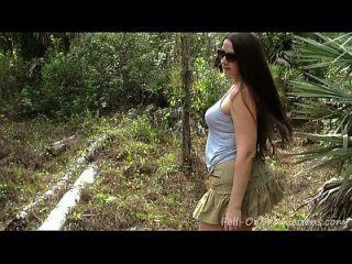 Milf fica facial na floresta. madisin lee na surpresa do 21º aniversário da mãe