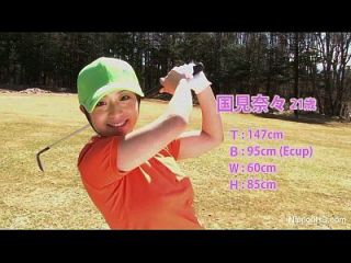 As meninas adolescentes asiáticas jogam nudez de golfe