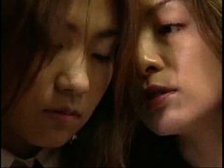 relógio de (4min) beijo de lábio japonês lésbicas